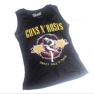 G&R guns and roses band graphic tank rock band med
